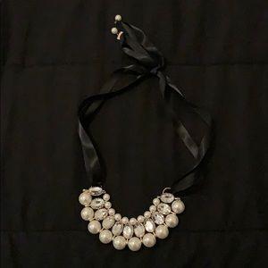 Vintage Looking Ribbon Necklace
